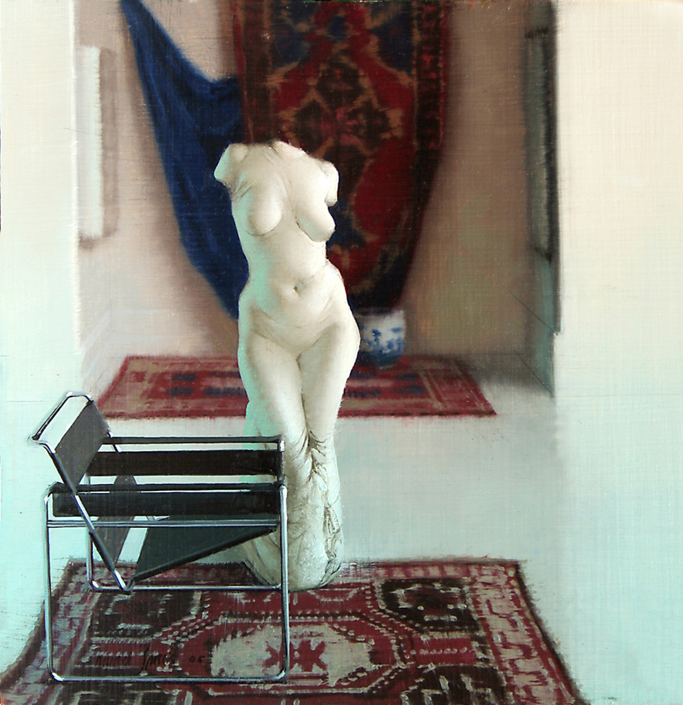 Sculptural Figure in Studio